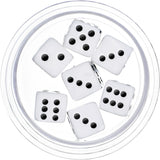 26mm Clear Acrylic White Throw the Dice Saddle Plug