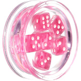 24mm Clear Acrylic Pink Throw the Dice Saddle Plug