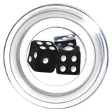 00 Gauge Clear Acrylic Black Throw the Dice Saddle Plug
