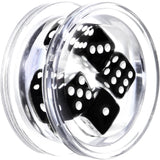 18mm Clear Acrylic Black Throw the Dice Saddle Plug