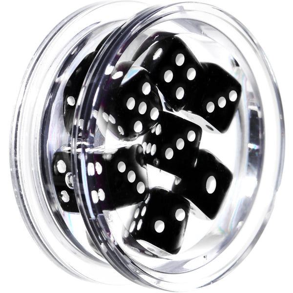 26mm Clear Acrylic Black Throw the Dice Saddle Plug