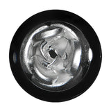 00 Gauge Black Acrylic Silver Metallic Rose Plug