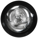 1/2 Black Acrylic Silver Metallic Rose Plug