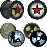 "5/8"" Star Silhouette Radioactive Sign Interchangeable LED Light Up Plug Set"