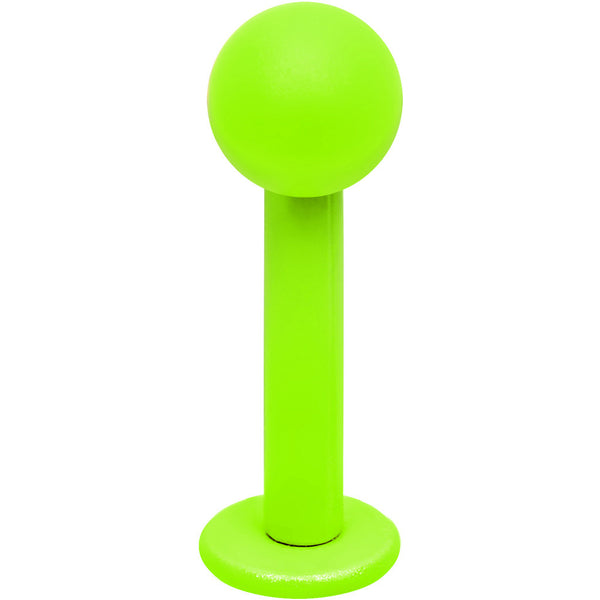 "14 Gauge 5/16"" Neon Green 4mm Ball Labret Monroe"
