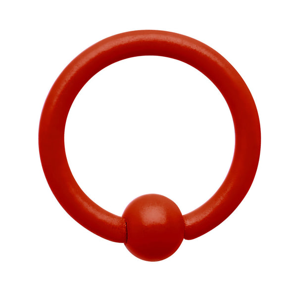 18 Gauge 1/4 Neon Red BCR Captive Ring 2.5mm Ball