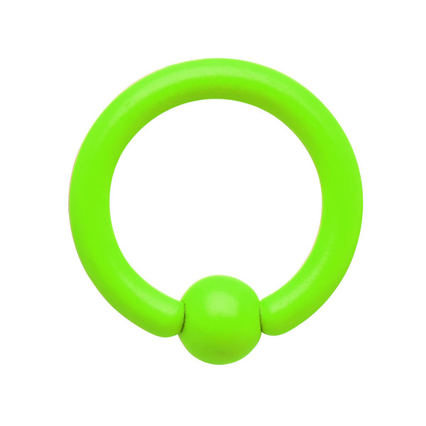 16 Gauge  1/4 Neon Green BCR Captive Ring 2.5mm Ball