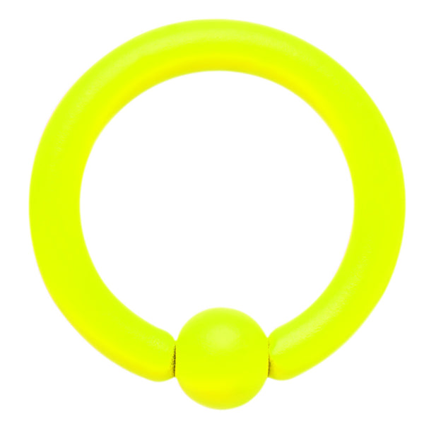 14 Gauge 5/16 Neon Yellow BCR Captive Ring