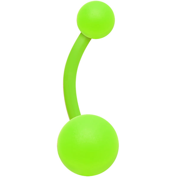 Neon Green Raging Belly Ring