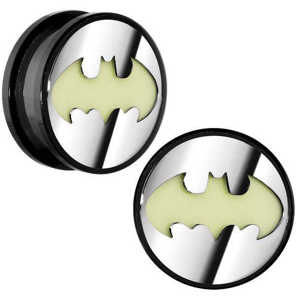 5/8 Licensed Batman Glow in the Dark Screw Fit Plug Set