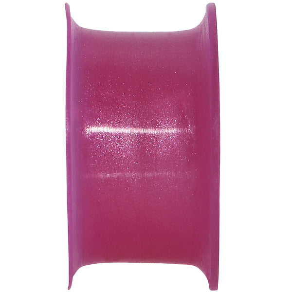 3/4 Fuchsia Pearlescent Silicone Hollow Tunnel