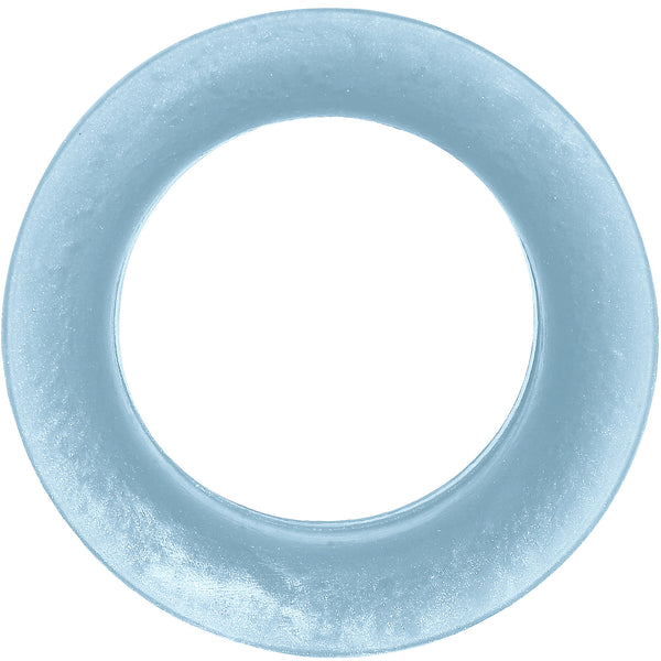 1 inch Light Blue  Pearlescent Silicone Hollow Tunnel