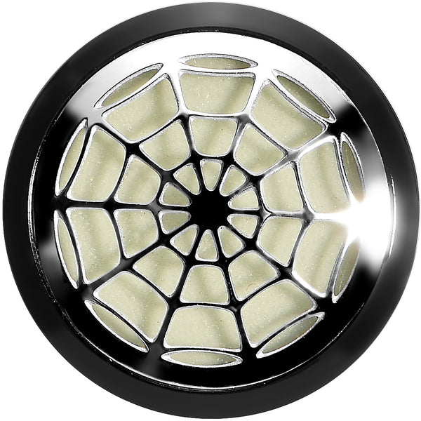 1/2  Acrylic Spider Web Glow in the Dark Plug