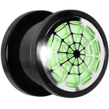 "1/2""  Acrylic Spider Web Glow in the Dark Plug"