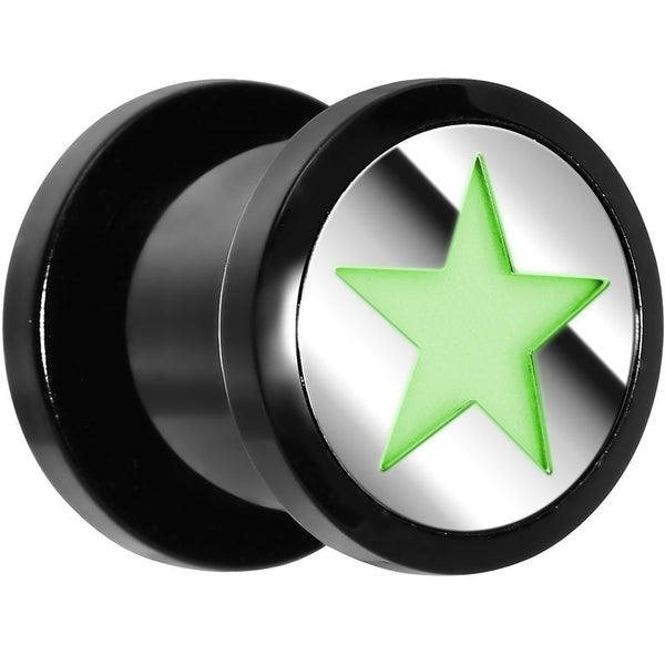 00 Gauge Acrylic Star Glow in the Dark Plug