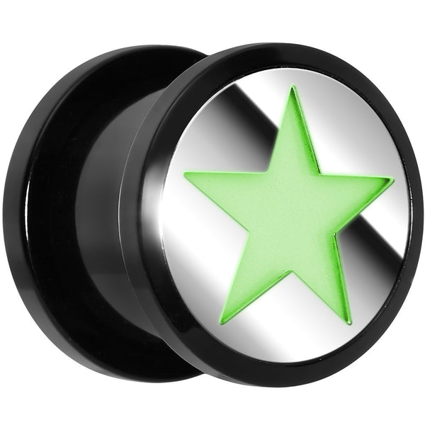 "1/2""  Acrylic Star Glow in the Dark Plug"