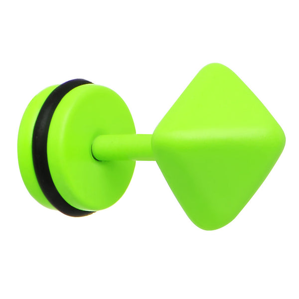 Green Neon Enamel Pyramid Cheater Plug