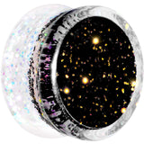 5/8 Black Gold White Acrylic Glitter Party Saddle Plug