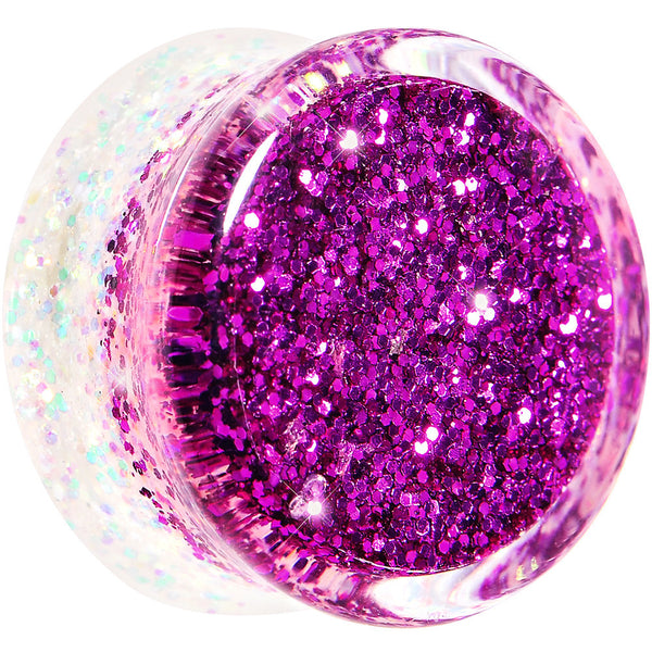 20mm Purple Pink White Acrylic Glitter Party Saddle Plug