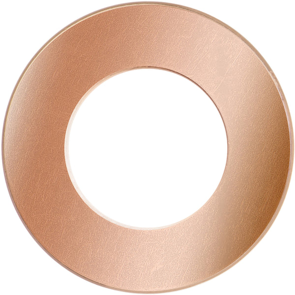 9mm Rose Gold Plated Threaded Tunnel Plug