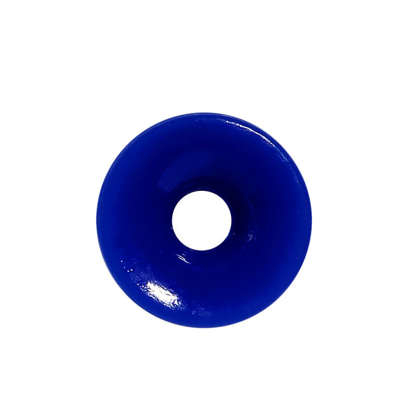 8 Gauge Blue Acrylic Double Flare Ear Tunnel