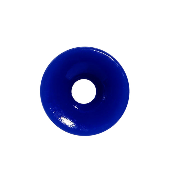 6 Gauge Blue Acrylic Double Flare Ear Tunnel