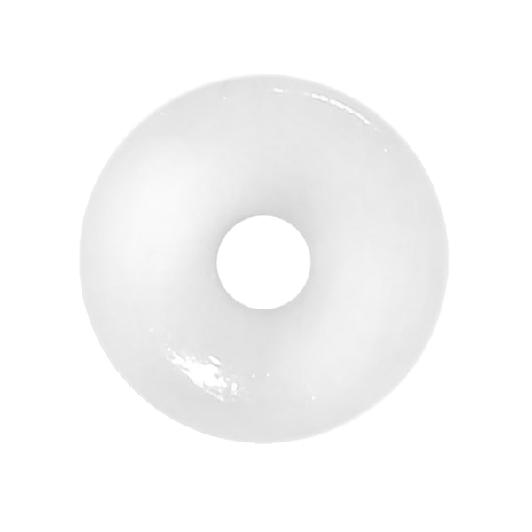 12 Gauge White Acrylic Double Flare Ear Tunnel