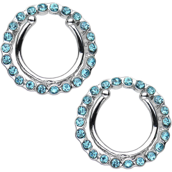 Aqua Gem Wreath Clip On Nipple Shield Set