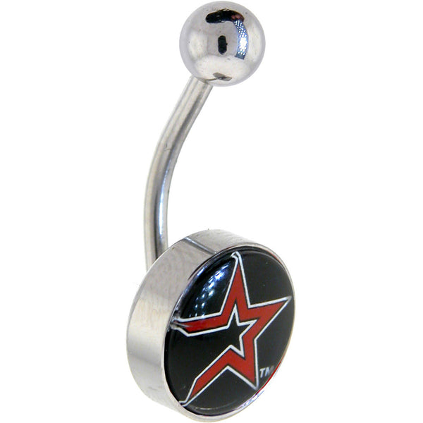 Major League Baseball Logo CURVED Belly Ring - Houston Astros