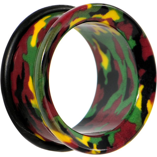 "7/8"" Acrylic Cloaked with Camouflage Tunnel Plug"