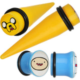 1/2 Acrylic Licensed Adventure Time Plug and Taper Set