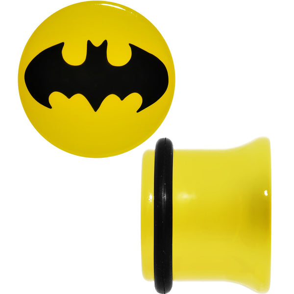 1/2 Officially Licensed Batman Yellow Single Flare Plug Set