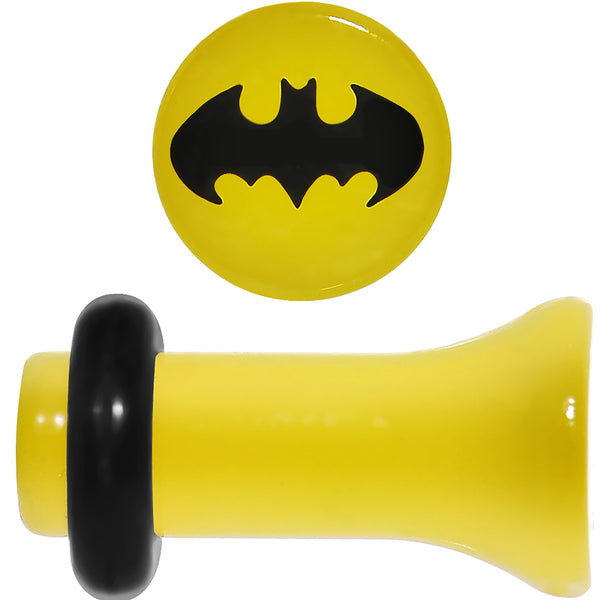 6 Gauge Officially Licensed Batman Yellow Single Flare Plug Set