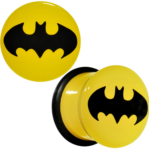"7/16"" Officially Licensed Batman Yellow Single Flare Plug Set"