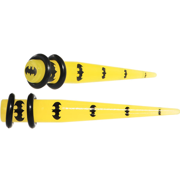 2 Gauge Officially Licensed Batman Yellow Taper Plug Set