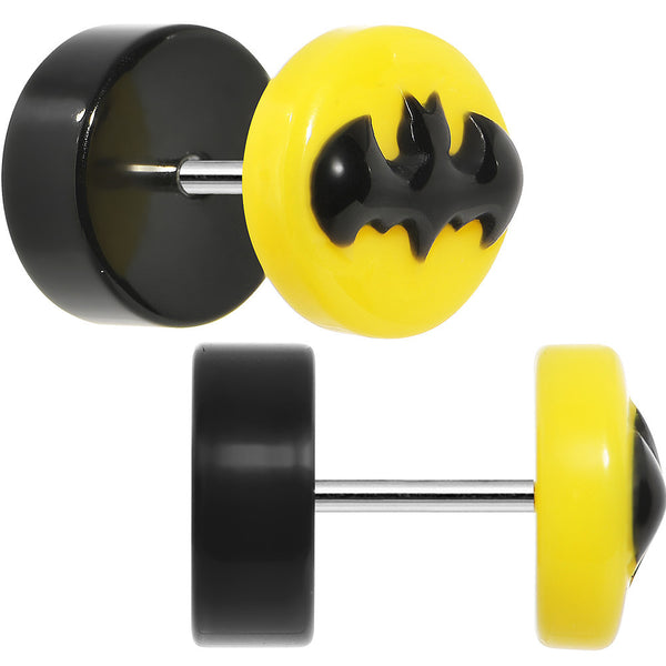 Officially Licensed Yellow and Black Batman Cheater Plug Set