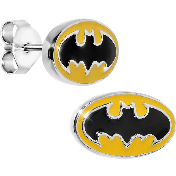 Officially Licensed Batman Yellow Stud Earrings
