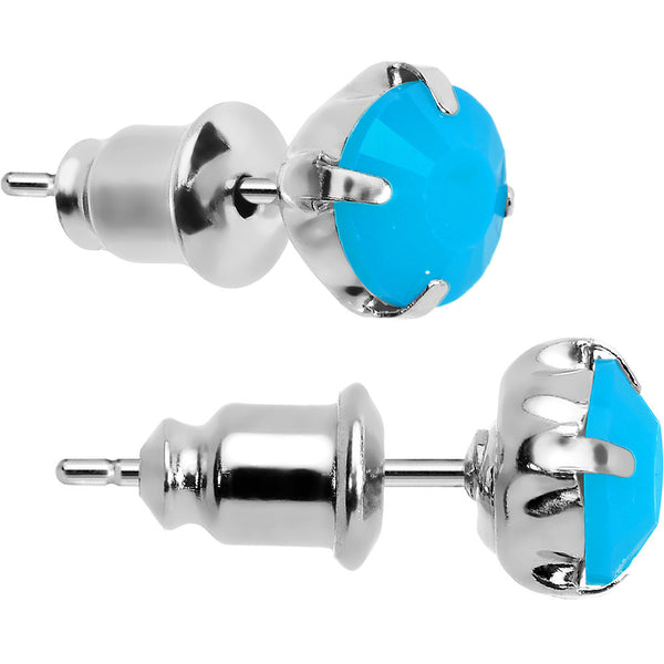 Blue Neon Acrylic Droplets Stud Earrings