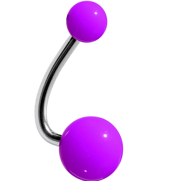 Neon Periwinkle Purple Acrylic J-Bar Belly Ring