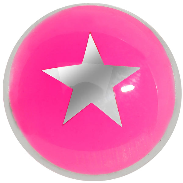 Hot Pink and Silver Star Cheater Plug
