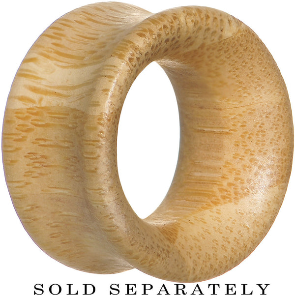 20mm Organic Bamboo Wood Double Flare Tunnel