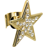 18KT Gold Plated Clear Gem Paved Super Star Ear Cuff