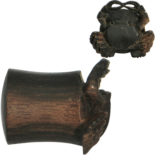 00 Gauge Organic Areng Wood Captain Crab Hand Carved Plug Set