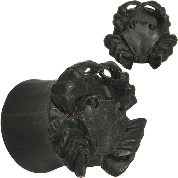 9/16 Organic Areng Wood Captain Crab Hand Carved Plug Set