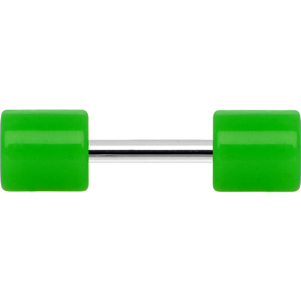 Bright Green Acrylic Cheater Plug Looks Like 6 Gauge