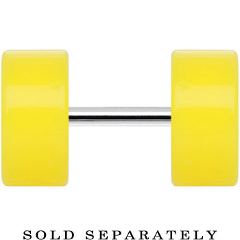 Bright Yellow Acrylic Cheater Plug Looks Like 0 Gauge