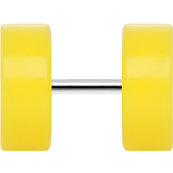 Bright Yellow Acrylic Cheater Plug Looks Like 00 Gauge
