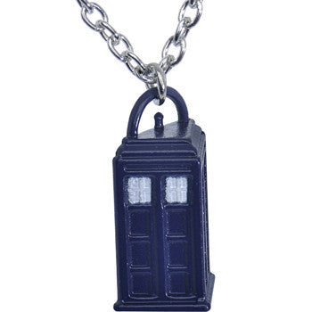 Licensed Dr. Who Tardis Pendant Necklace