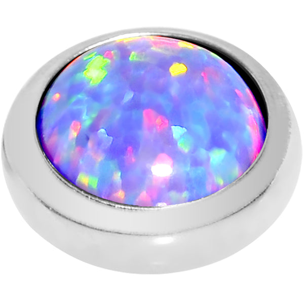 14 Gauge 5mm Purple Opal Stainless Steel Dermal Anchor Top