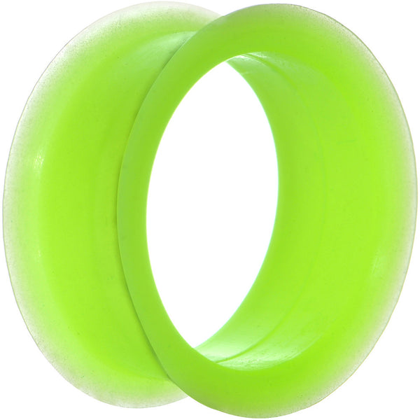 26mm Neon Green Silicone Glow in the Dark Double Flare Tunnel